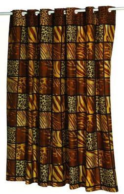 Carnation Home Fashions EZ On No Hooks Needed! Fabric Shower