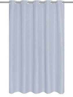 ez on waffle weave fabric shower curtain