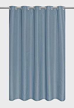 Hookless EZ-ON Waffle Weave Fabric Shower Curtain with Snap-