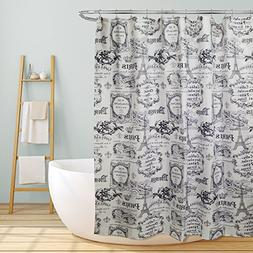 "Linen Store Fabric Canvas Shower Curtain, 70""x70"", Paris, Pa"