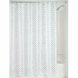 Fabric Resistant Mold Striped White Quality Hotel Shower Cur