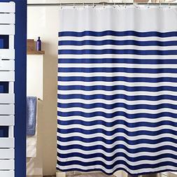 MangGou Fabric Shower Curtain,Nautical Stripes Shower Curtai