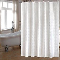 bathroom fabric shower curtain set