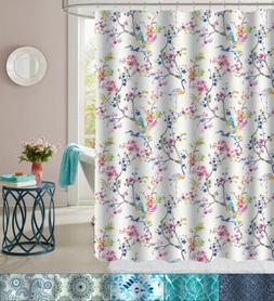 Fabric Shower Curtain 72 x 70 Printed Patterns Floral, Geome