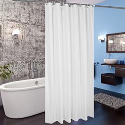 Extra Long Fabric Shower Curtain Liner Hotel With Hooks Wate