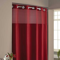 "Hookless Waffle Fabric Shower Curtain - Size : 71"" X 74"" - C"