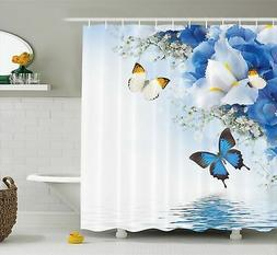 Ambesonne Fabric Shower Curtain by, Resort Spa Home Decor Bl