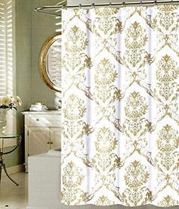 Tahari Home Fabric Shower Curtain Chinoisserie Damask Paisle