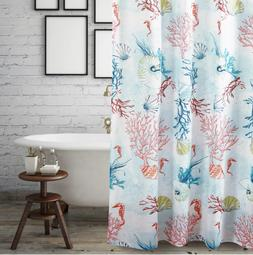 Fabric Shower Curtain Coastal Bathroom Accessories Ocean Sea