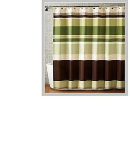 spring Home Fabric Shower Curtain,multi-color Printed Stripe