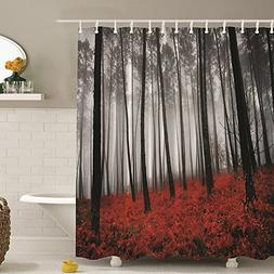 Messagee Fabric Shower Curtain Farmhouse Country Home Woodla