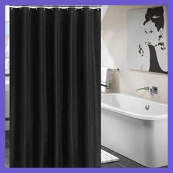 Fabric Shower Curtain For Bathroom/Bath Waterp BLACK 72 By I
