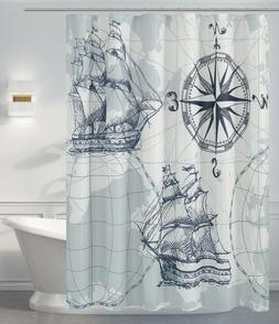 Fabric Shower Curtain for Kids with Octopus Printed Pattern