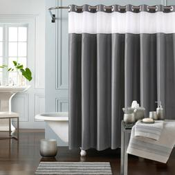 """Fabric Shower Curtain Hookless Mold Resistant 71""""Long 71""""Wid"""