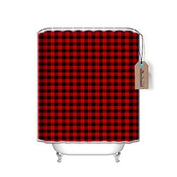 Vandarllin 66x72 Long Fabric Bath Shower Curtain with Plasti