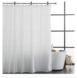 Aimjerry Fabric Shower Curtain Mold Resistant White 72 by 72