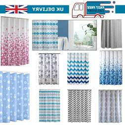 Fabric Shower Curtain Printed Extra Wide Long Waterproof Pol