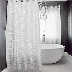 Woven Nook Fabric Shower Curtain 72 x 72'' Square with 12 Ho