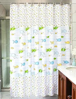 MangGou Fabric Shower Curtain,Funny Kids Shower Curtain Line