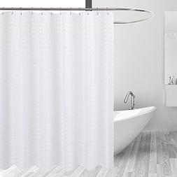 Barossa Design Fabric Shower Curtain White - Hotel Grade, Wa