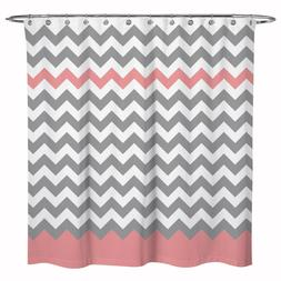 Fabric Zigzag Stripes Chevron Shower Curtain Bathroom Decor