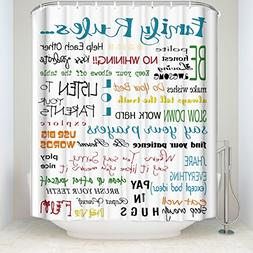 Z&L Home Family Rules Educational Print Inspirational Shower
