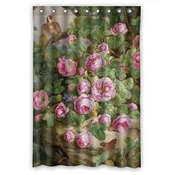 Famous Classic Art Painting Flowers Blossoms Polyester Bathr