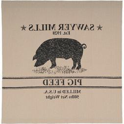 VHC Brands Farmhouse Bath Miller Farm Charcoal Pig Rod Pocke