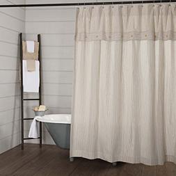 Piper Classics Farmhouse Ticking Stripe Shower Curtain, 72x7