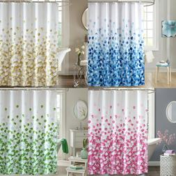Fashion Cloth Fabric Shower Curtain Petals Mold Mildew Resis