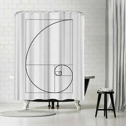 Americanflat 'Fibonacci' Shower Curtain