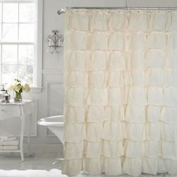 FLAMENCO Gypsy Ruffled SHEER Shower Curtain