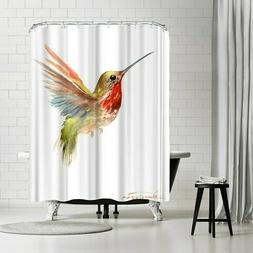 Americanflat 'Flamingo 11' Shower Curtain Red