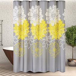 Wimaha Floral Fabric Shower Curtain, Mildew Resistant Water