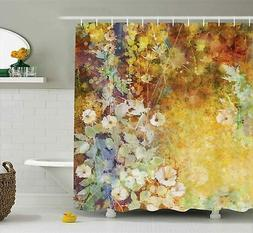 Ambesonne Floral Shower Curtain Leaves Decor by, Watercolor