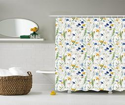 Ambesonne Floral Shower Curtain Roses Decor by, Poppies and