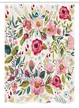 Ambesonne Floral Stall Shower Curtain, Shabby Chic Flowers R