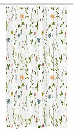 Ambesonne Floral Stall Shower Curtain, Spring Season Themed