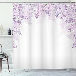 Flower Shower Curtain Lilac Blossoms Spring Print for Bathro