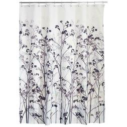 "InterDesign Freesia Fabric Shower Curtain, 72 "" x 72"", Reinf"