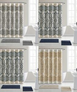 French Chateau Paisley Chic Premium Fabric Shower Curtain -