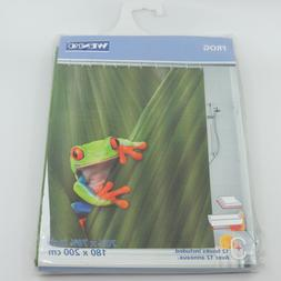 frog shower curtain 70 7 8 x