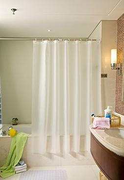 Ms Bloom Frost PEVA Shower Curtain Liner Mold And Mildew Res