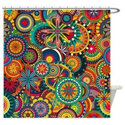 CafePress Funky Retro Pattern Shower Curtain