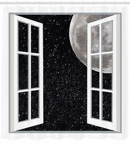 Ambesonne Galaxy Full Moon Fairy Scene At Night Space Art Pi