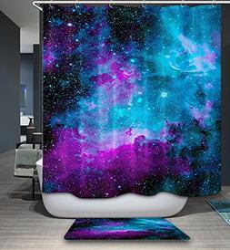 Galaxy Starry Nebula Décor Art Shower Curtain Mildew Resist