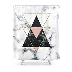 """Society6 Geo Glam Marble Shower Curtain 71"""" by 74"""""""