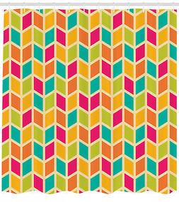 Geometric 3D Cubic Chevron Pattern and Hipster Design Print