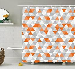 Ambesonne Geometric Decor Collection, Triangles Argyle Polyg