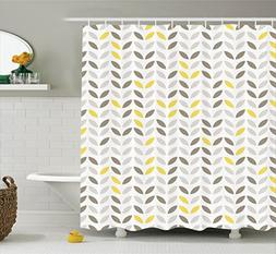 Ambesonne Geometric Decor Collection, Stylized Fish with Abs
